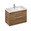 Britton Bathrooms Shoreditch 850mm Caramel Double Drawer Unit & Basin