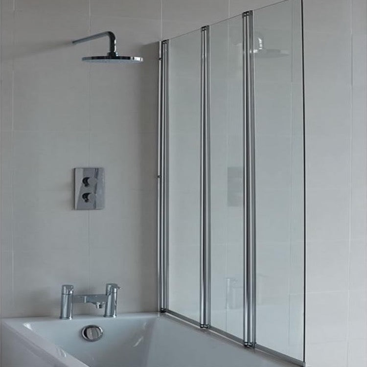 Three Fold Bath Screen - blueskybathrooms