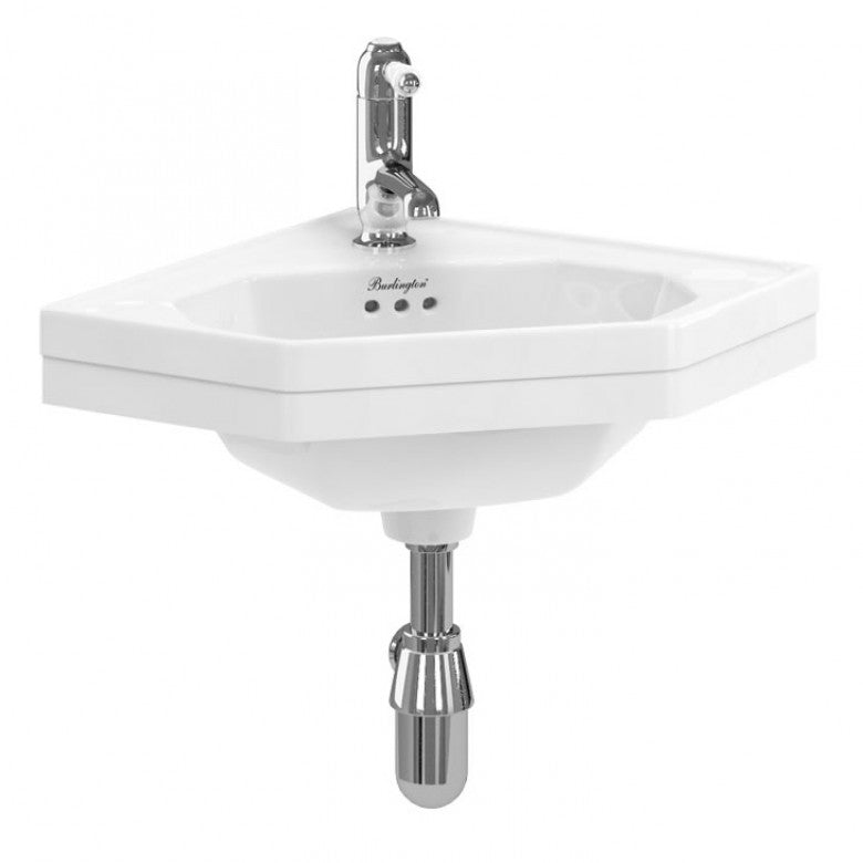 Edwardian Corner Cloakroom Basin - blueskybathrooms