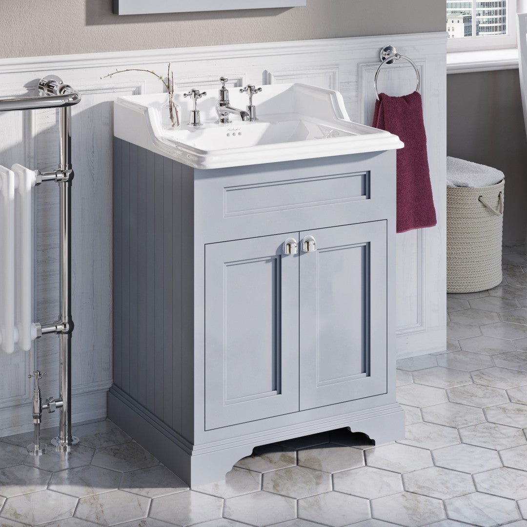 Grey 650mm Classic Vanity Unit and Basin - blueskybathrooms