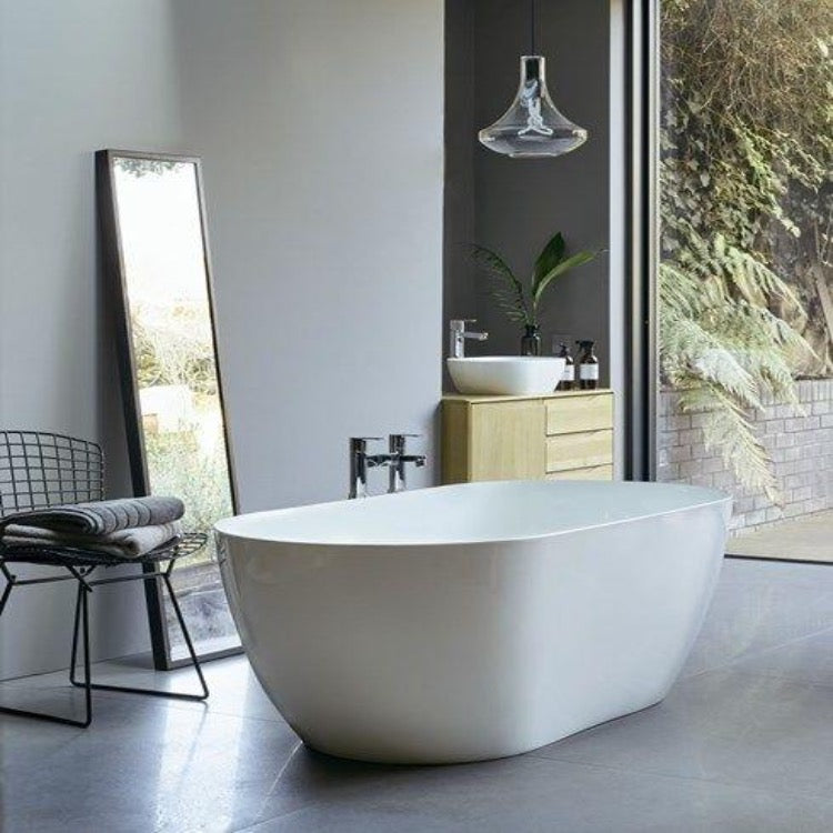 Clearwater Formoso Grande 1690mm Clearstone Freestanding Bath - blueskybathrooms