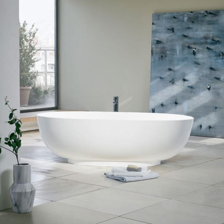 Clearwater Puro 1700mm Clear Stone Freestanding Bath - blueskybathrooms