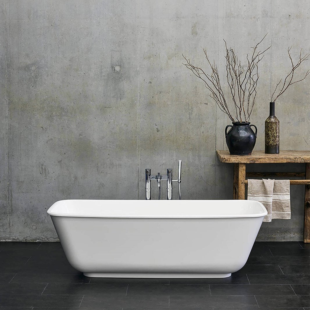 Clearwater Nuvola ClearStone Freestanding Bath - 1700 x 750mm - blueskybathrooms