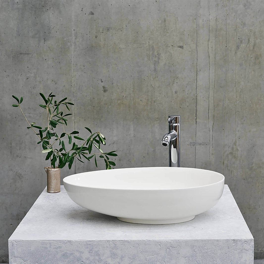 Clearwater Teardrop Clearstone Countertop Basin - blueskybathrooms