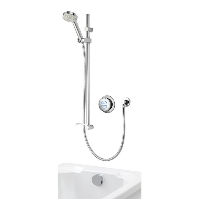 Aqualisa Quartz Divert Concealed With Adjustable Head And Bath Overflow - blueskybathrooms