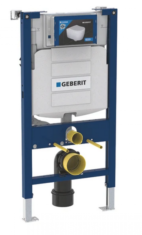 Image of Geberit Duofix Wall Hung WC Frame 980mm And Sigma Concealed Cistern 12cm