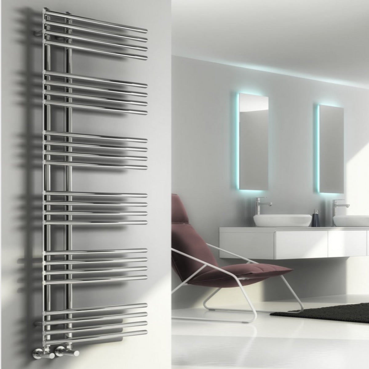 Reina Elisa Designer Steel Bathroom Heated Towel Rail Radiator