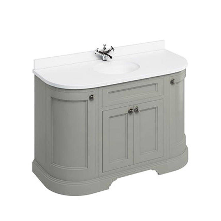 Olive 1340mm Classic Vanity Unit with Basin (With Doors) - blueskybathrooms