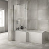 Sommer  L Shape Shower Bath - blueskybathrooms