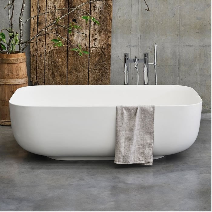 Image of Clearwater Duo Clear Stone 1500mm Freestanding Bath