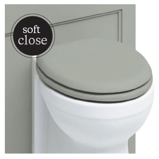 Burlington Soft Close Toilet Seat with Chrome Hinges