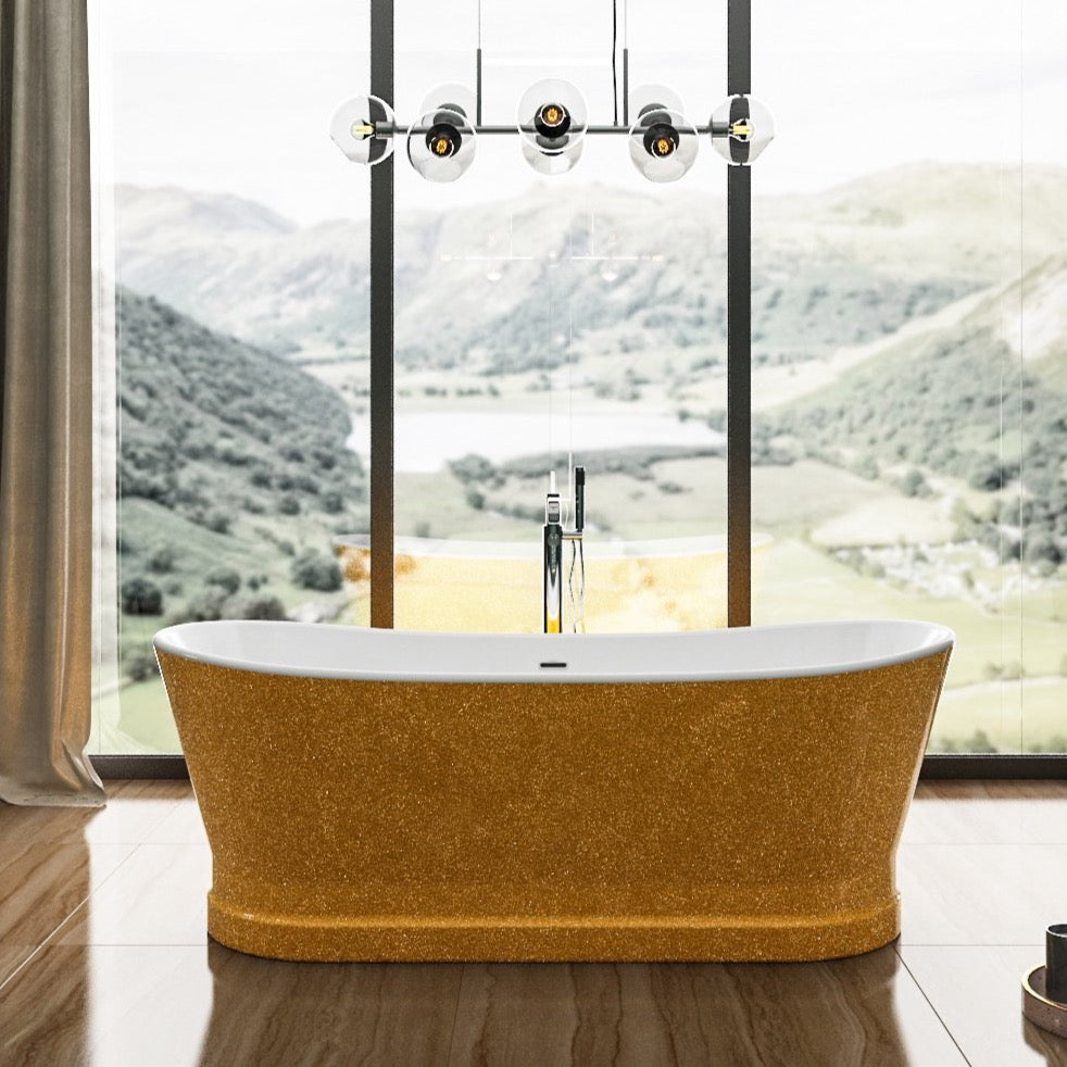 Charlotte Edwards Sparkling Gold Jupiter 1700mm Freestanding Bath