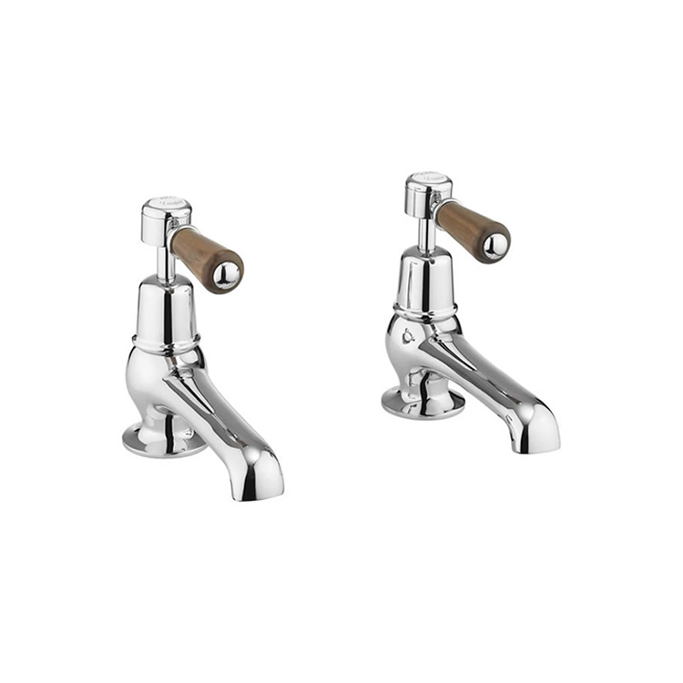 Burlington Kensington Walnut Basin Taps 5""