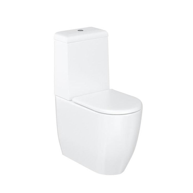 Milan Rimless Close Coupled Toilet - blueskybathrooms