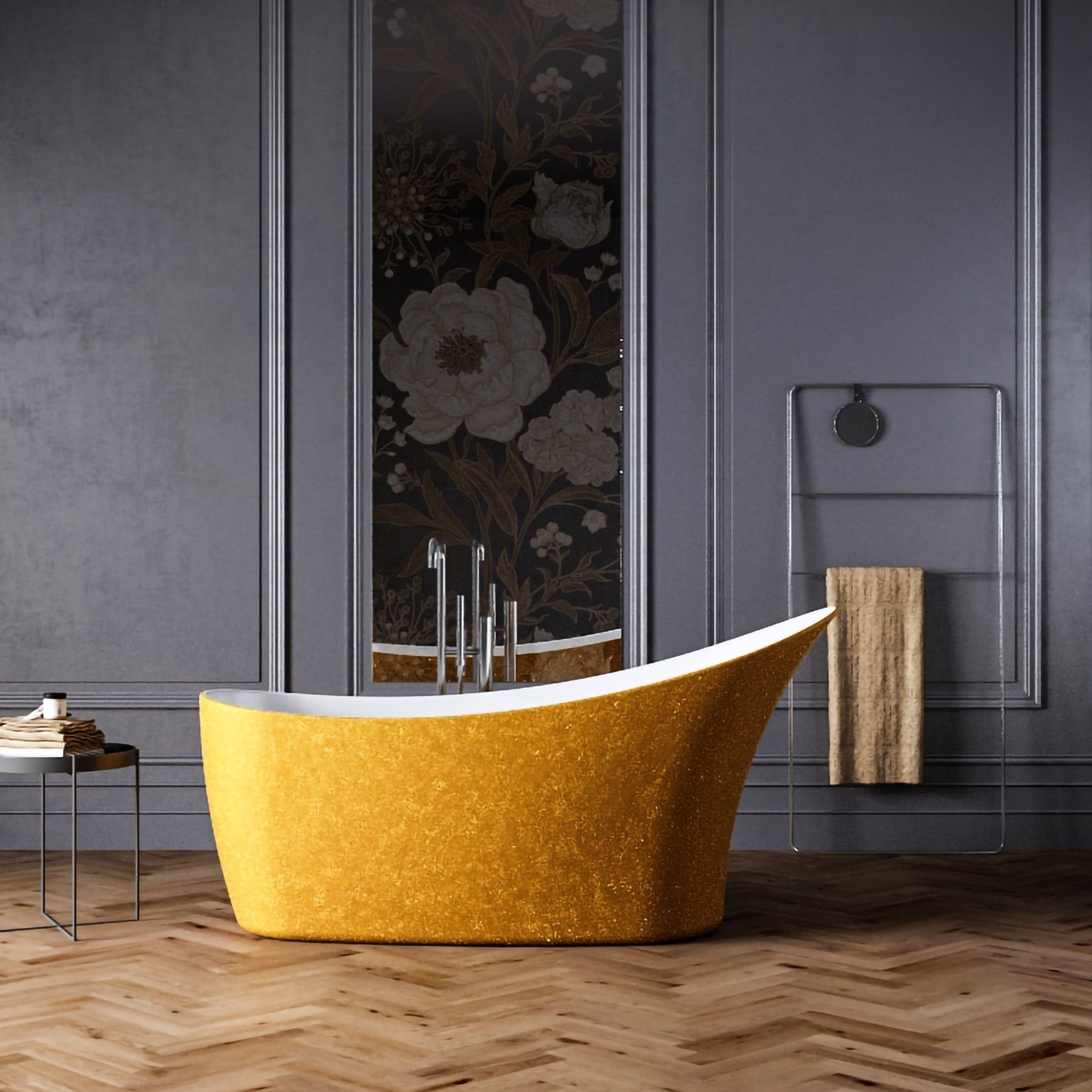 Charlotte Edwards Sparkling Gold 1590mm Portobello Freestanding Bath
