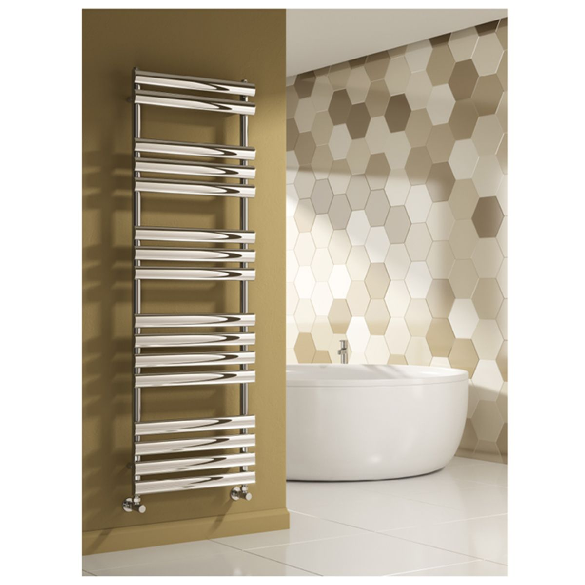 Reina Arbori Steel Chrome Designer Towel Radiator