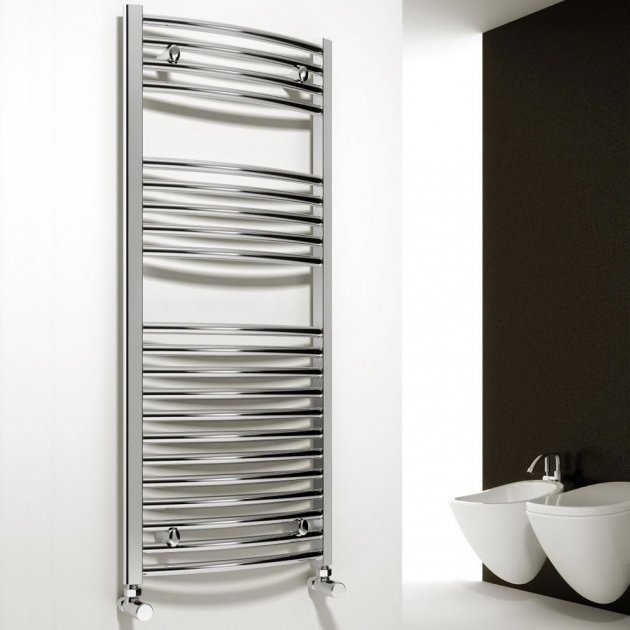 Reina Diva Curved Chrome Towel Radiator