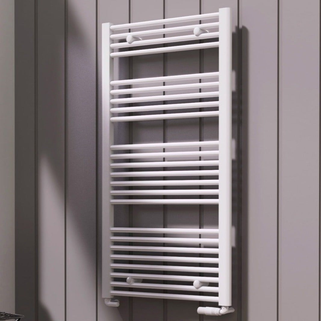 Reina Diva White Heated Flat Towel Rail