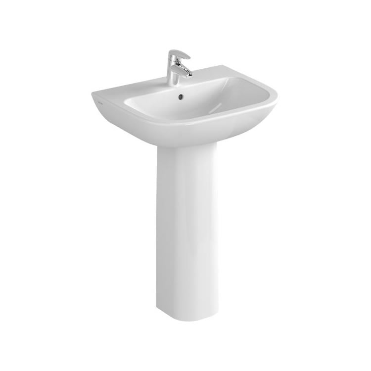 S20 Cloakroom Basin With Pedestal - blueskybathrooms