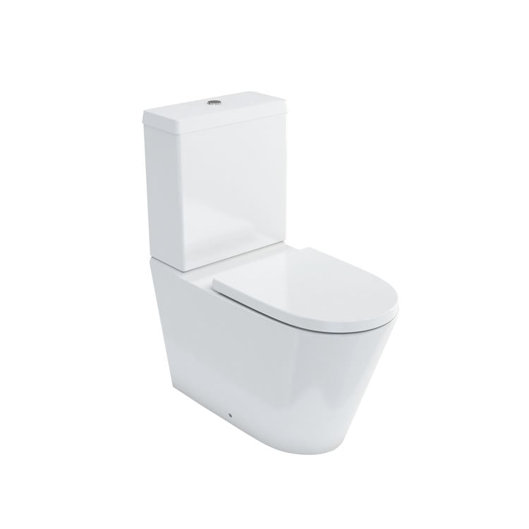 Britton Sphere Rimless Close Coupled Toilet And Seat - blueskybathrooms