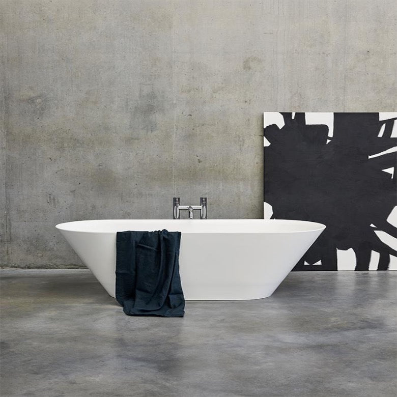 Clearwater Sontuoso 1690mm Clear Stone Freestanding Bath - Blue Sky Bathrooms Ltd