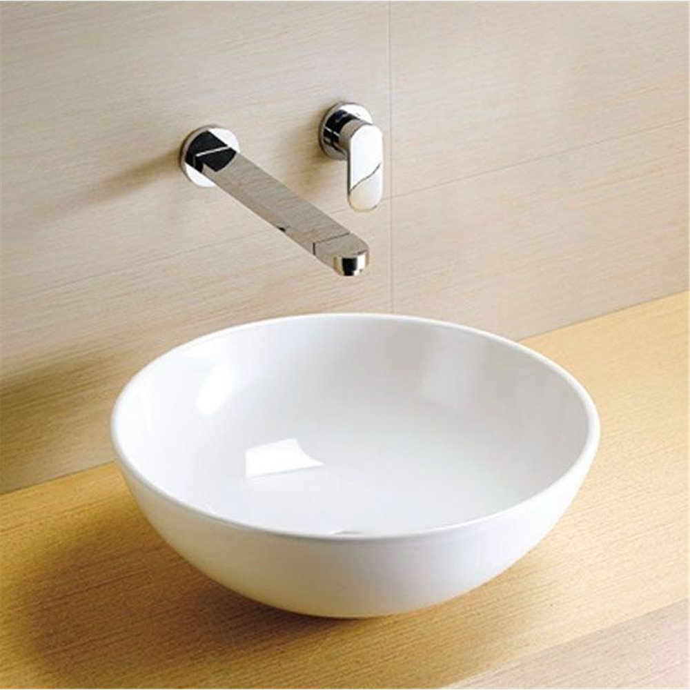 Sphere Countertop Bowl In White - blueskybathrooms