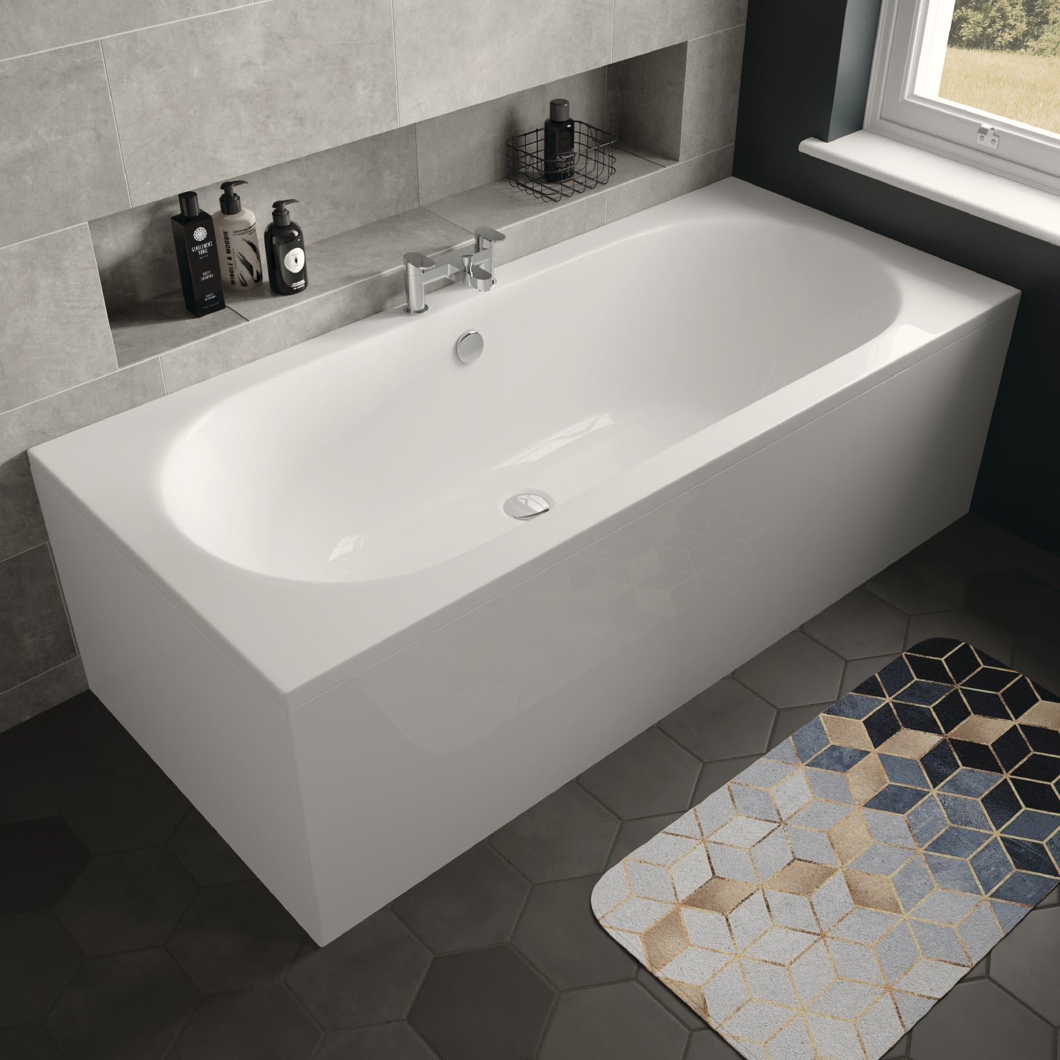 Magnus Double Ended Bath - blueskybathrooms
