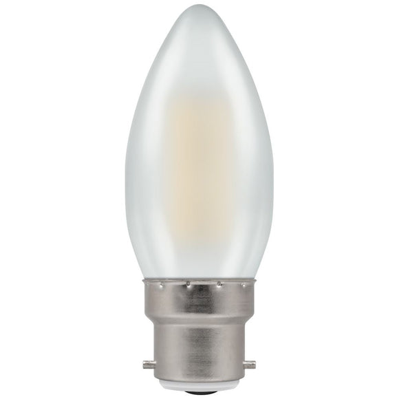 Crompton 5W Warm White BC Pearl Candle Dimmable LED Filament