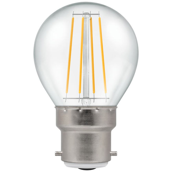 Crompton 5W Warm White BC Clear Golfball Round Dimmable LED Filament