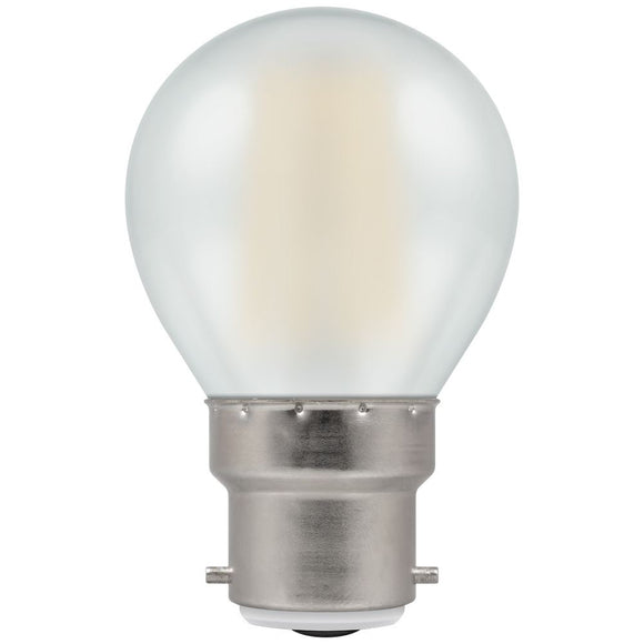 Crompton 5W Warm White BC Pearl Golfball Round Dimmable LED Filament