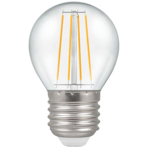 5W Warm White ES Clear Golfball Round Dimmable LED Filament