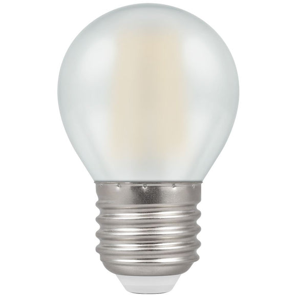5W Warm White ES Pearl Golfball Round Dimmable LED Filament