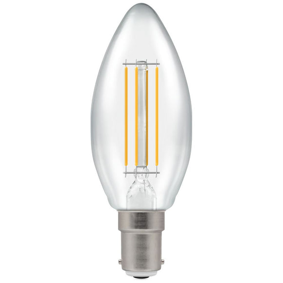 Crompton 5W Warm White SBC Clear Candle Dimmable LED Filament