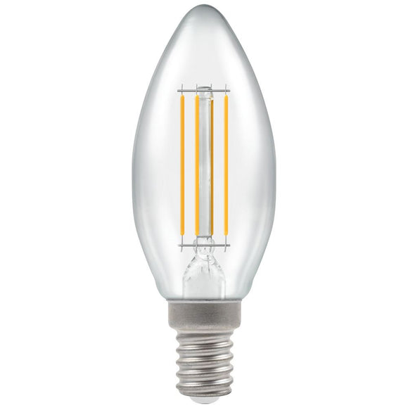 Crompton 5W Warm White SES Cleat Candle Dimmable LED Filament