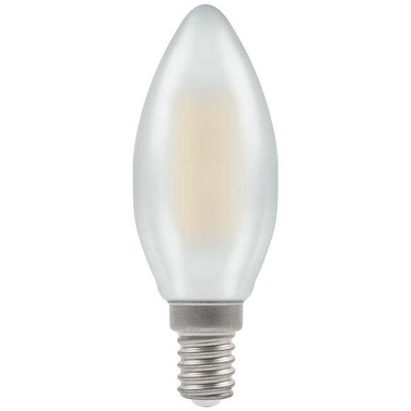 Crompton 5W Warm White SES Pearl Candle Dimmable LED Filament