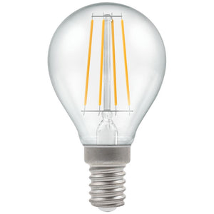 5W Warm White SES Clear Golfball Round Dimmable LED Filament