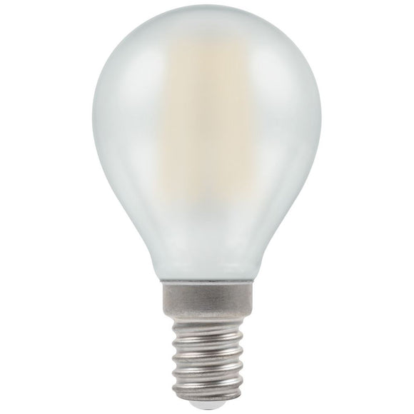 5W Warm White SES Pearl Golfball Round Dimmable LED Filament