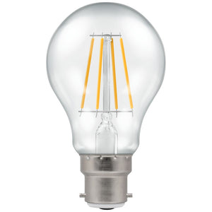 Crompton 7.5W warm white Clear Dimmable GLS BC LED