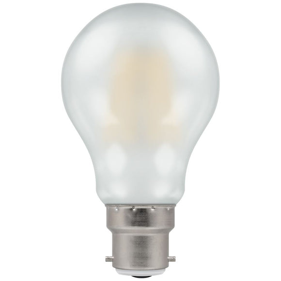 Crompton 7.5W warm white Pearl Dimmable GLS BC LED
