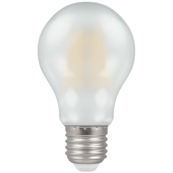 Crompton 7.5W warm white Pearl Dimmable GLS ES LED
