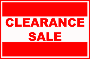 Clearance - Limited Time!
