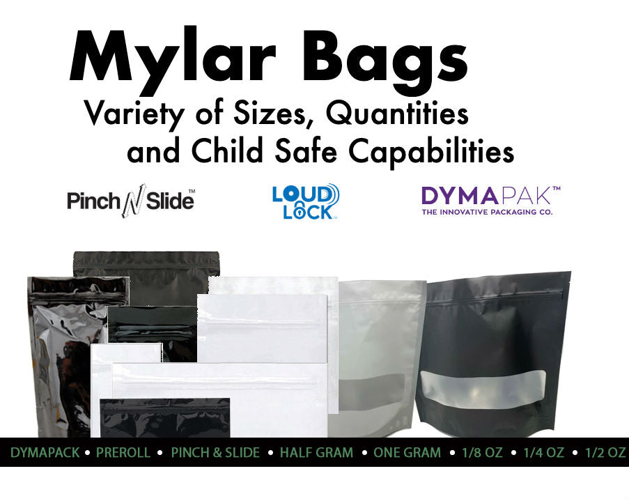 mylar bags for Marijuana packaging  child safe cr