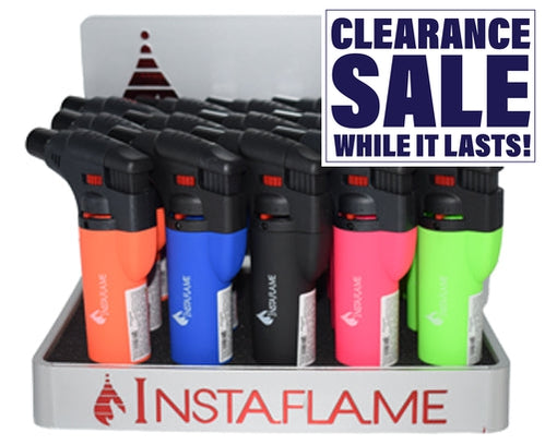 InstaFlame Torch Lighter Neon Color (15 Count Display)