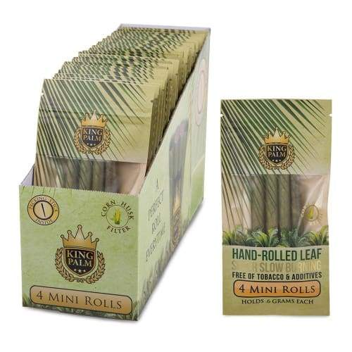 King Palm 4 Per Pack Mini Size Rolls (24 Count) - ROLLING PAPERS AND CONES