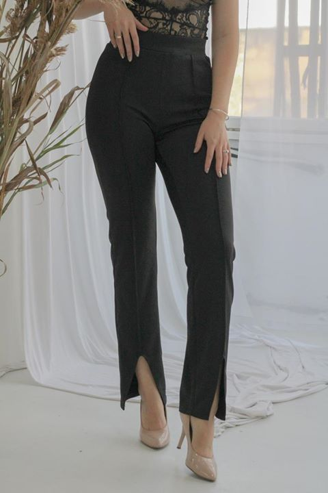 Front Slit Pencil Pants - LEPITON