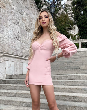 Puff Sleeve A-line Mini Dress - LEPITON