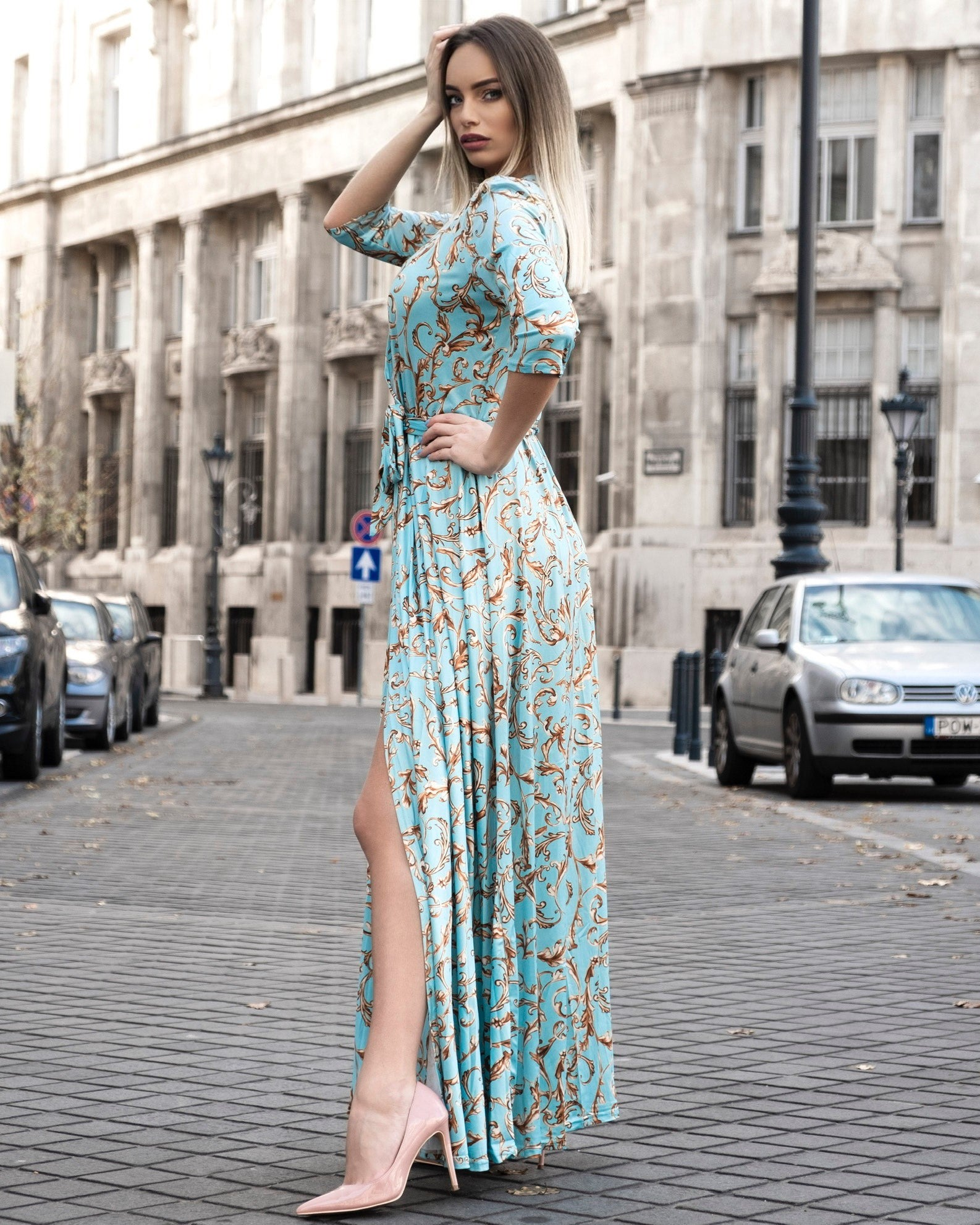 Elegant Bodycon Maxi Dress - LEPITON