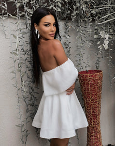 Off-Shoulder Runway A-Line Mini Dress - LEPITON