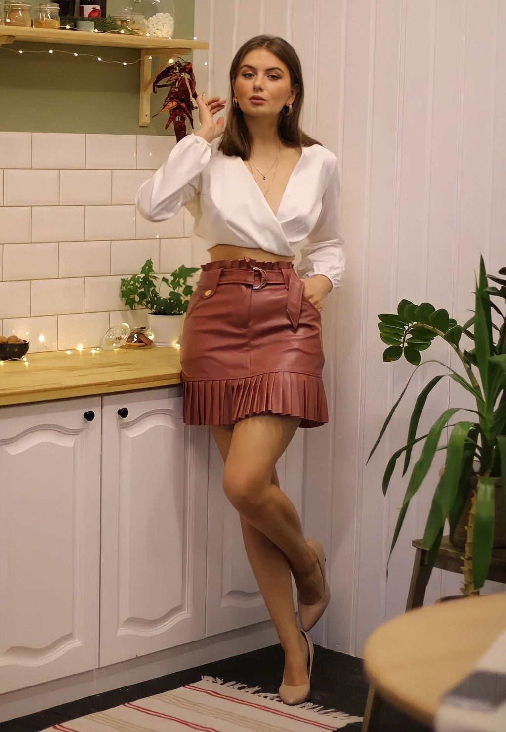 Pleated Mini-step Cake Skirt - LEPITON