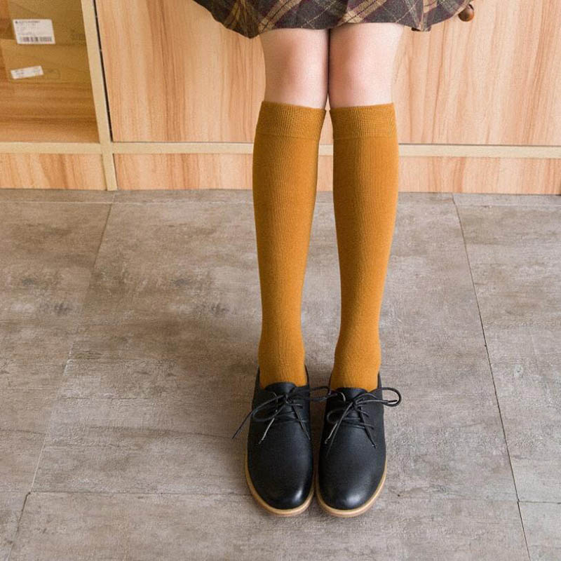 Knee-High Cute Long Cotton Socks
